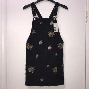 Topshop Denim Overall Dress